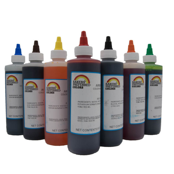 BAKERS PREFERRED Airbrush Colours 8oz (236 ml) – Countrywide Cake ...